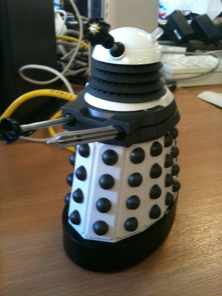 Just got given a Dalek for my birthday (yesterday) - my first white one!