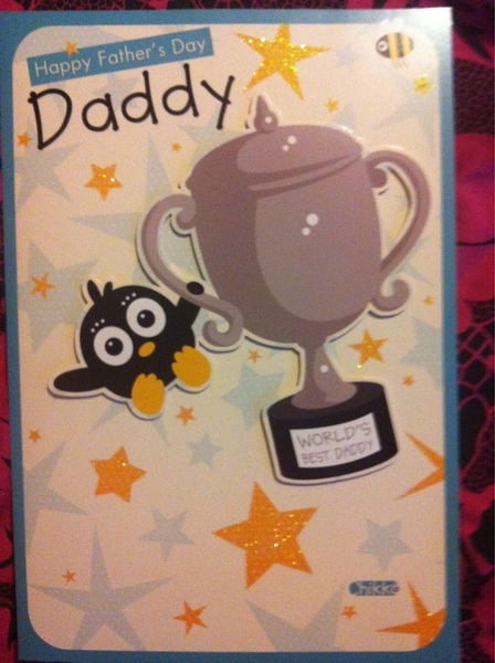 my fathers day card #HappyFathersDay 
