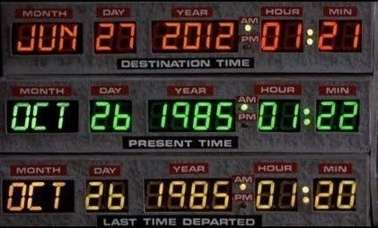 """Back To The Future"" is today! #jam #iFeelAncient"