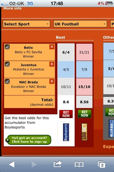 SATURDAY night treble to recoup !!   BETIS JUVENTUS  NAC   #europeanfootybets