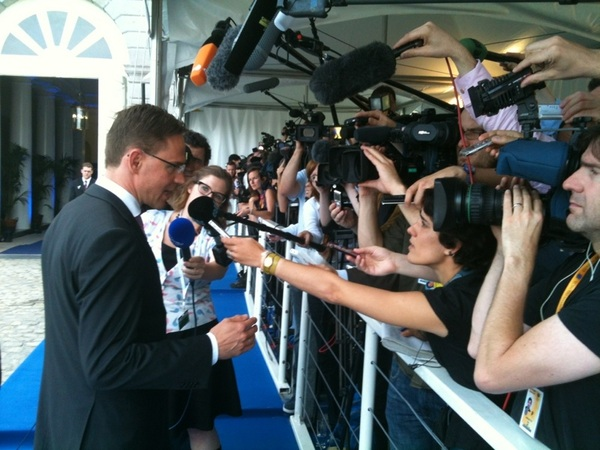 PM Katainen with the press #EPP #Kokoomus #euco