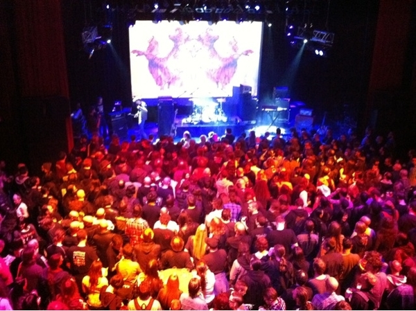 Pretty packed Midi Theatre @roadburnfest @013_popcentre siked to see Ghost play #roadburn
