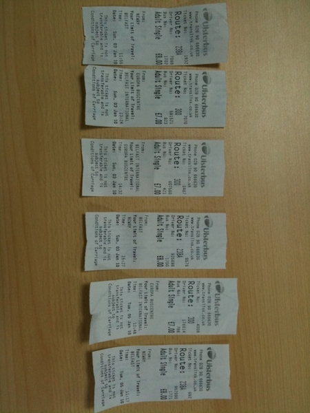 The useless bus tickets