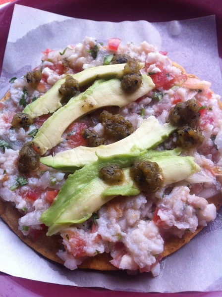 Ensenada Seafood Mkt: El Norteño: traditional ground fish ceviche w rstd jalapeño salsa
