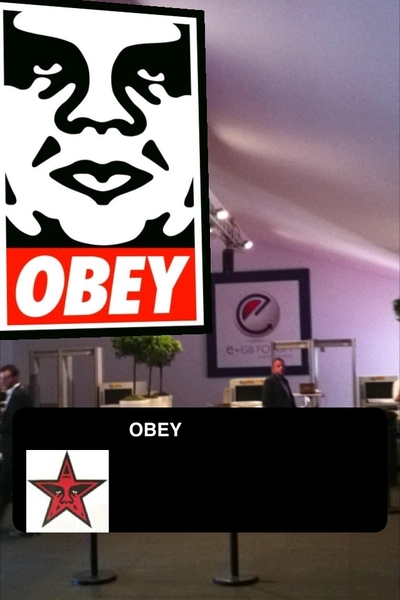 @spacelib representing with @layar at the #eg8 #freespace #obey