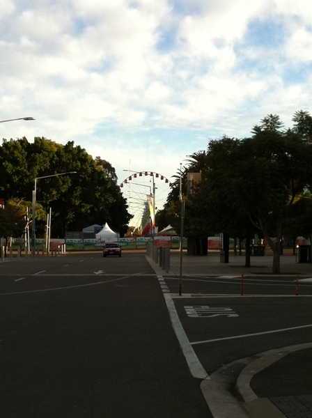 View from my car after putting my bike in the back #olympicpark #eastershow