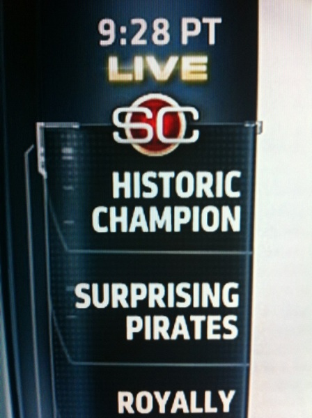 'Surprising Pirates' on @SportsCenter @northsidenotch
