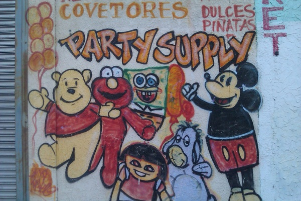 What kinda party supplies these guys are selling? Because I&#039;ve never seen Eeyore so chill before. #streetart