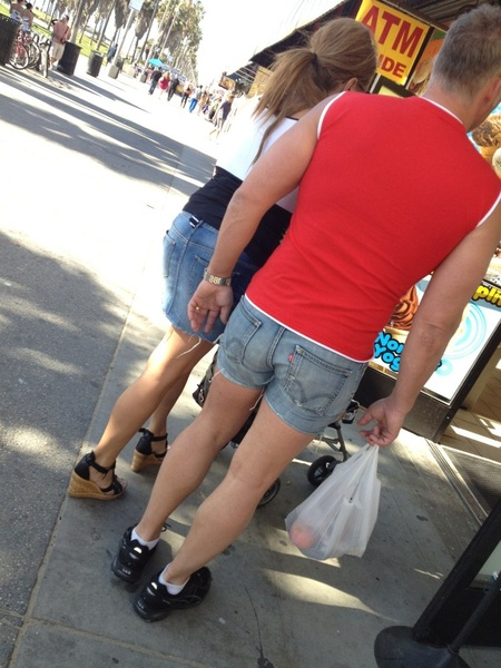 Nice shorts buddy! Saw this guy walking down #Venice boardwalk earlier...I couldn't help myself ;)