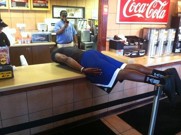 Zaxbys planking
