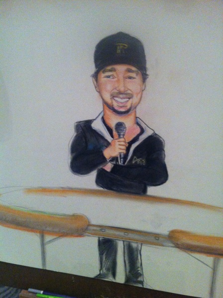 PIC: me by famous caricature artist Steve Spector (Bobby Baldwin approved picture in this tweet!).  Chau Giang 4th.