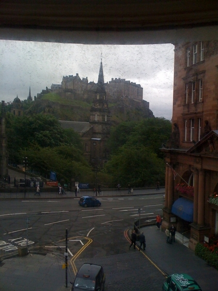 The view from my room: Edinburgh Castle.