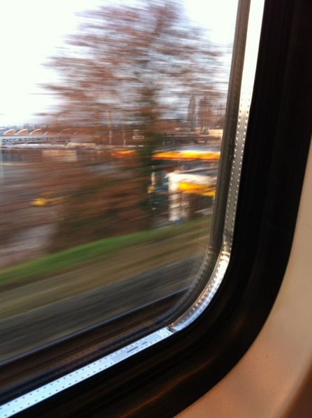 In de trein op weg naar #Utrecht voor @Massage_kanker 
