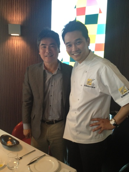 Met up w Chef Edward Kwon at Lab 24 for a awesome lunch