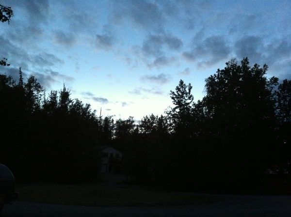 1:35 in the morning, it is just starting to get light again. #fb