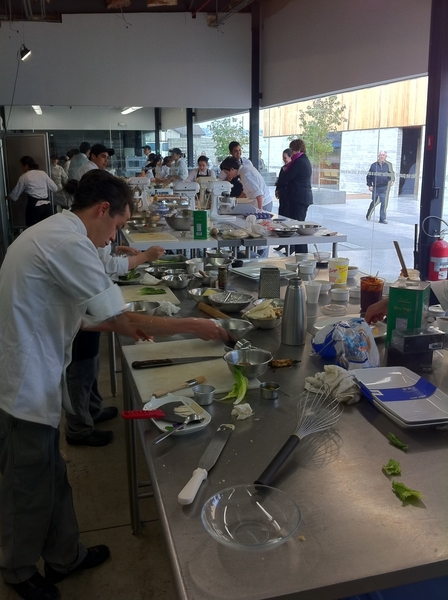 Tijuana Culinary Arts School: students preparing for me their visions for a contemporary Caesar salad 