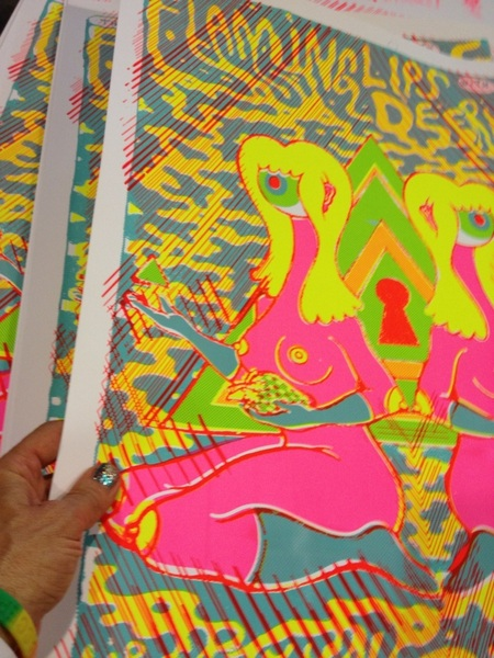 Yessss!! Oliver Hibert fucked up Lips/Deerhoof posters!!!!