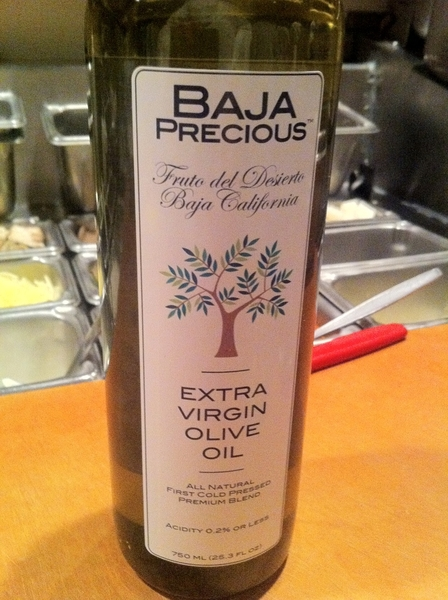 I am loving this Baja olive oil made from Nevadilla and Mission olives. Fruity, spicy, long finish.