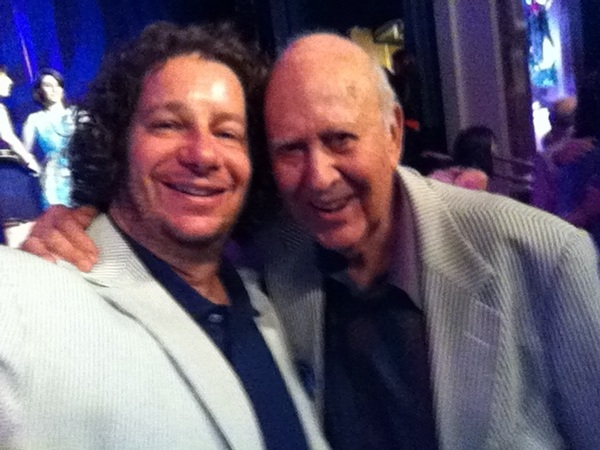 Me & my hero Carl Reiner in our seersucker suits last night- at a tribute honoring his nephew/my friend George Shapiro.