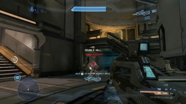 ATTENTION: #Halo4 Wargames playtest pic. (Dude got a double kill) LOL!