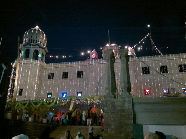 Light decoration at pinjokhra sahib for gurpurb