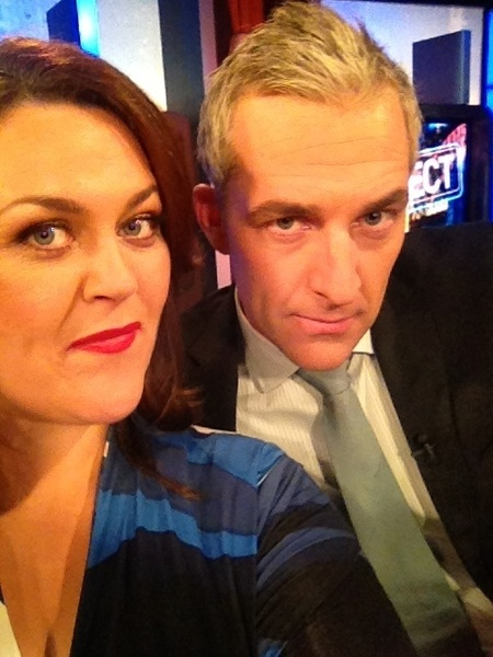 Grrrrrrr  @_AndrewRochford and me on  @theprojecttv