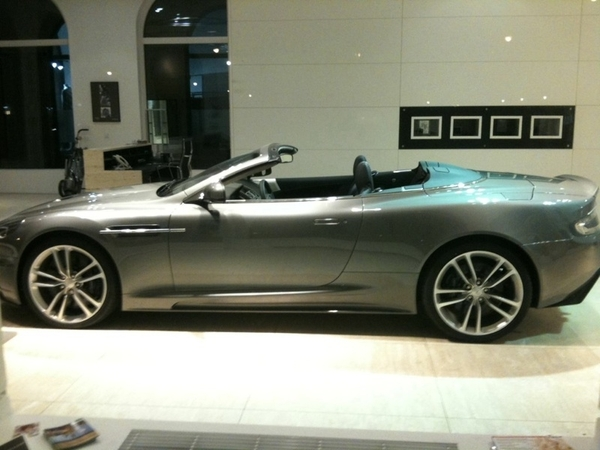 Shit I was too slow #astonmartin #munich sold this #DB-S Volante from their showroom :-(