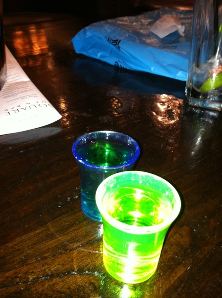 Absinth with @Prabs84 #goodolddays That'll teach  @Vrijraj for standing us up!