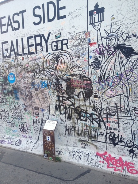 Cool street art on the old Berlin wall!!