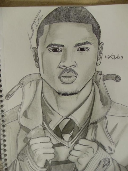 @TreySongz @SongzYuuup #RT #FF  this, a drawing I drew of treysongz. Chk it out I snapped