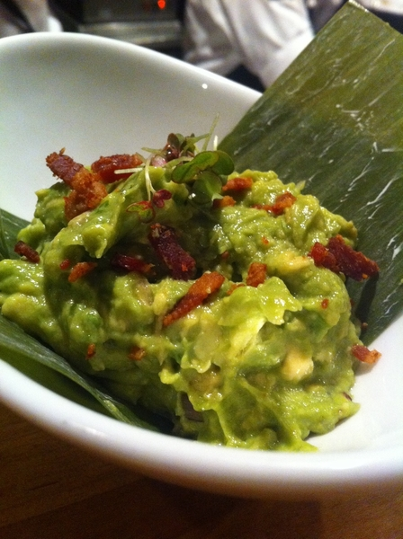 New Topolo tasting menu: Grilled ramp and bacon guacamole