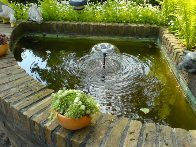 nieuw fonteintje in de kleine vijver by rene spijker