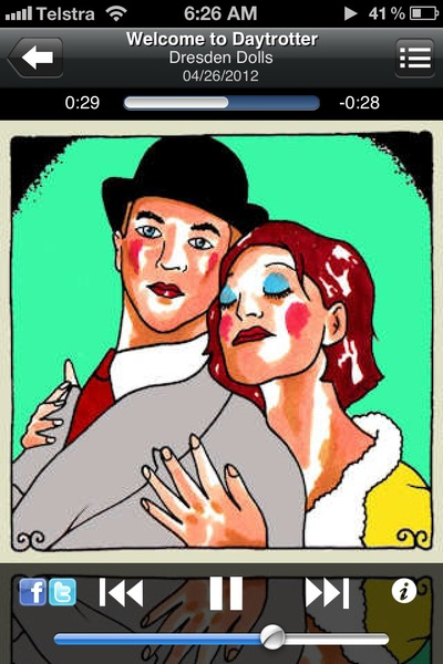 @DresdenDolls @amandapalmer Currently listening to a great daytrotter session by The Dresden Dolls!