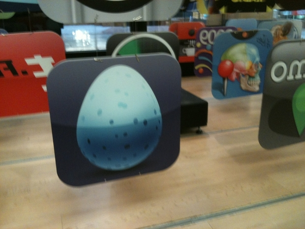 My mom just txt'd me the Big Blue Egg in Cincinnati Apple Store!