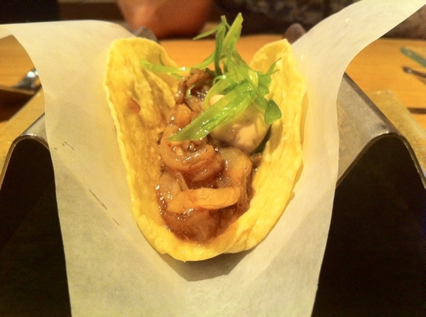 China Poblano: tacos of tongue, pork pastor, beef tendon (!), cochinita. All solidly good.