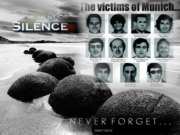 Stand with us!!! Never forget...  #Israel #Munich ✡♡✡