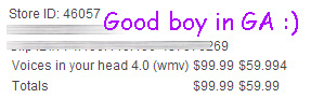 Such a good boy in GA. I love it when boys desire to financially suffer for Me. : )
