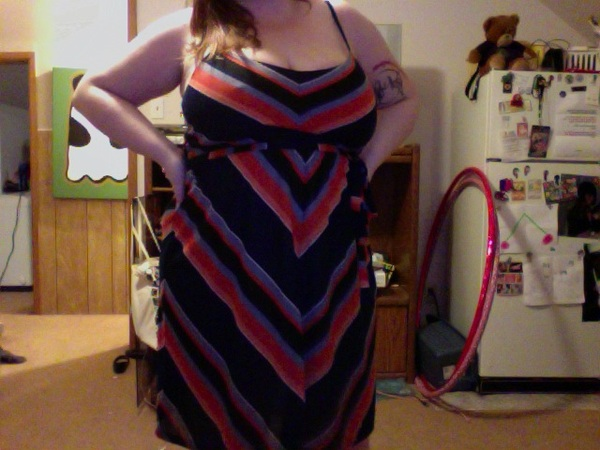 I&#039;m totally bra-less but check out this adorable dress I got today! I swear, every time i hit F21, i buy a new dress