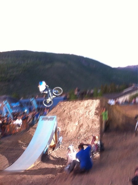 . @kellymcgazza riding in the best trick contest at #tevamtngames