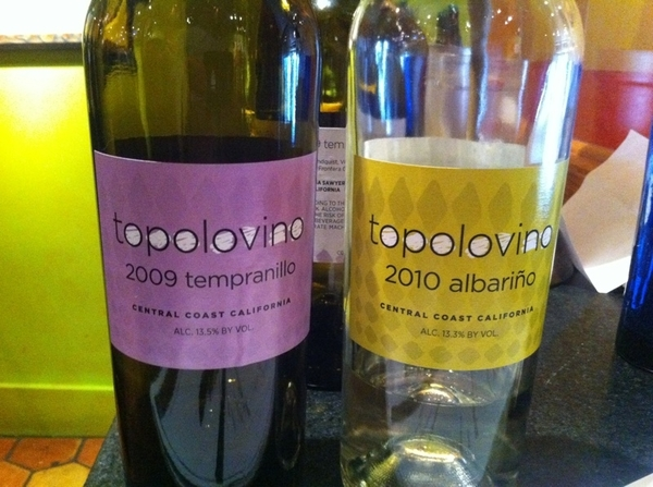Som Jill Gubesch's new Topolovino vintages arrived! Tempranillo:raspberry,pepper,rose;Albariño:citrus,white peach