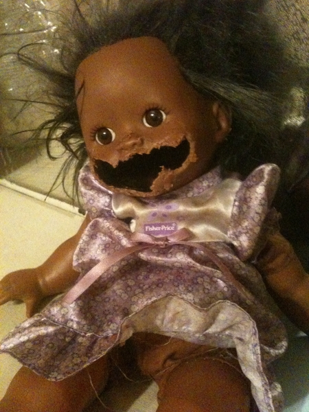 Got my dog a doll baby to see what she would do with it.   #TeamFollowBack #TFB