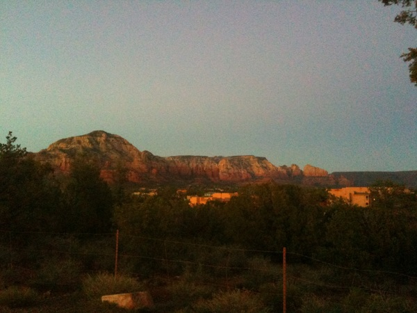 Inspired by @KeithOlbermann & his amazing NYC sunsets:  Sedona twilight.