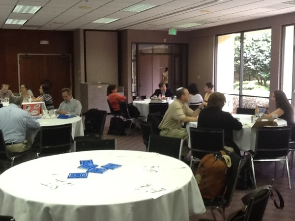 #edjewcon lunch before keynote in the Setzer Frisch room