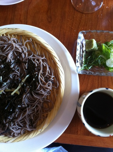 Takashi: beautiful cold soba w all the wasabi-spicy, umami-rich broth for dipping. Great stuff