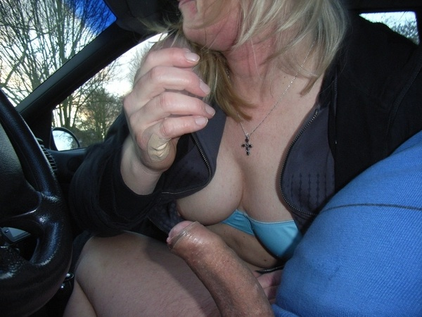Experience targeted Granny blowjob in car has performed