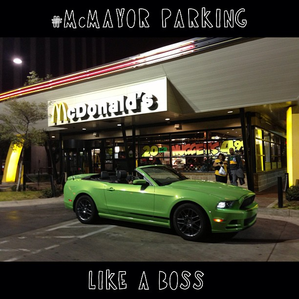 #McMayor Parking...LIKE A BOSS cc: @FordBecky #FordTX #Fordology