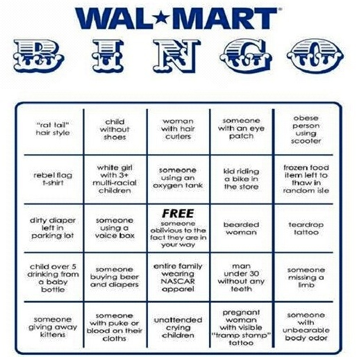 Sweet. Playing Bingo today. Who's with me? #walmart #bingo