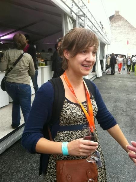 Leuk kennnismaken met @TineVdm van @VisitVlaanderen bij @gentjazz #fiaf12 #gj12