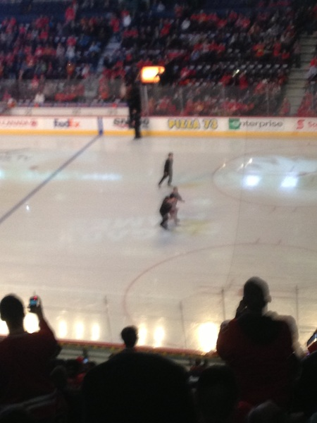 Streaker at the flames game #neverbeforeseen