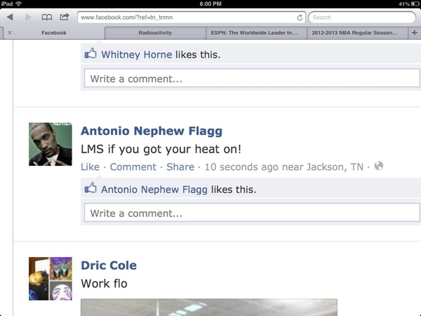 The kinda shit u see on FB....if u got yo heat on tho!?!?LMMFAO.